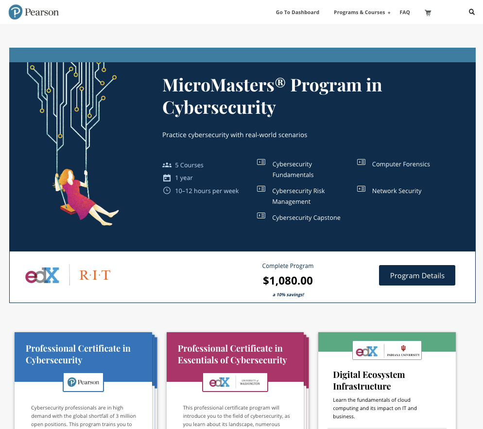 Personalized landing pages to get people to see courses