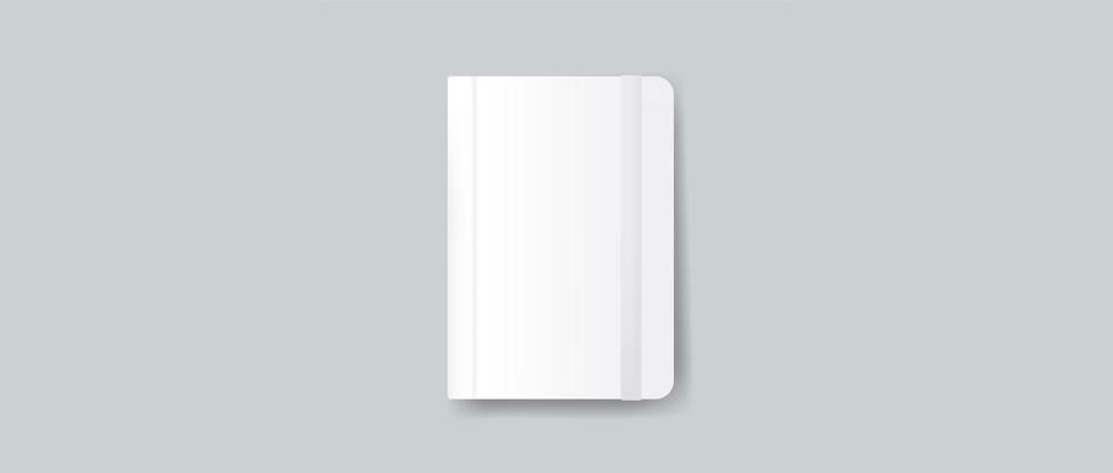 A closed notebook